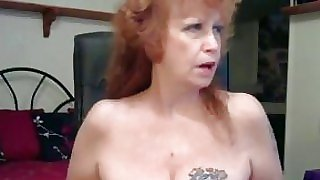Messy Inked Granny Gets Naked