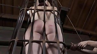 Stormy caning for lusty lady