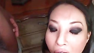 Asian hoe sucks and..