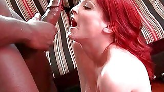 Redhead mother humps black..