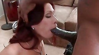 Naughty MILF eats dark-hued..