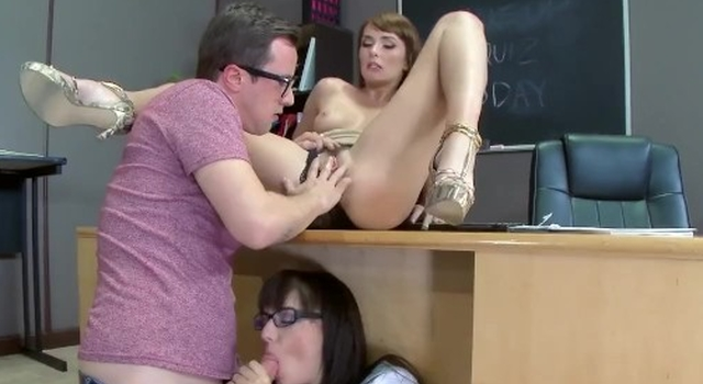 Teacher has threesome with..