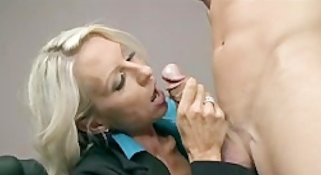 BIG TIT BLONDE MILF Chief IN..