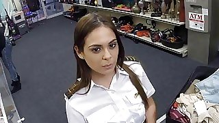 Latina stewardess..